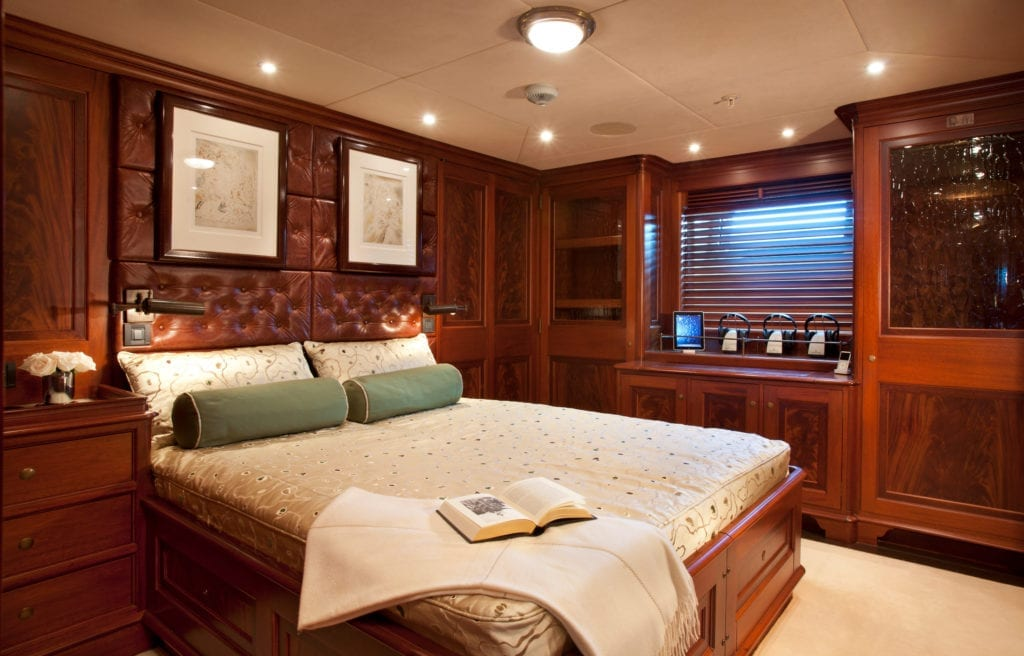 Guest Double Cabin on Tiara yacht