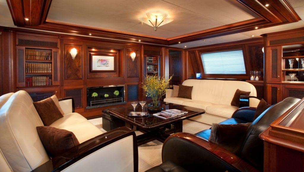 Interior Saloon on Tiara Yacht