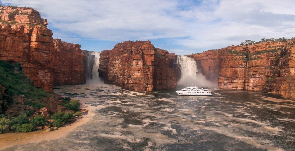 True North in front of King George Falls