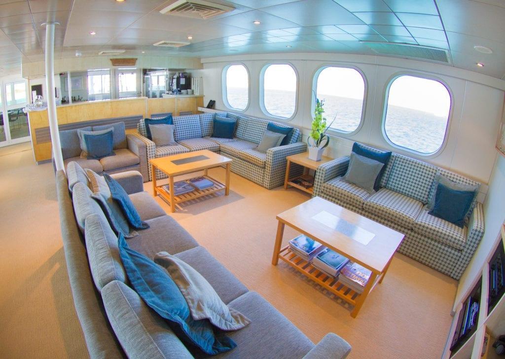 True North Yacht Interior Bar & Dining