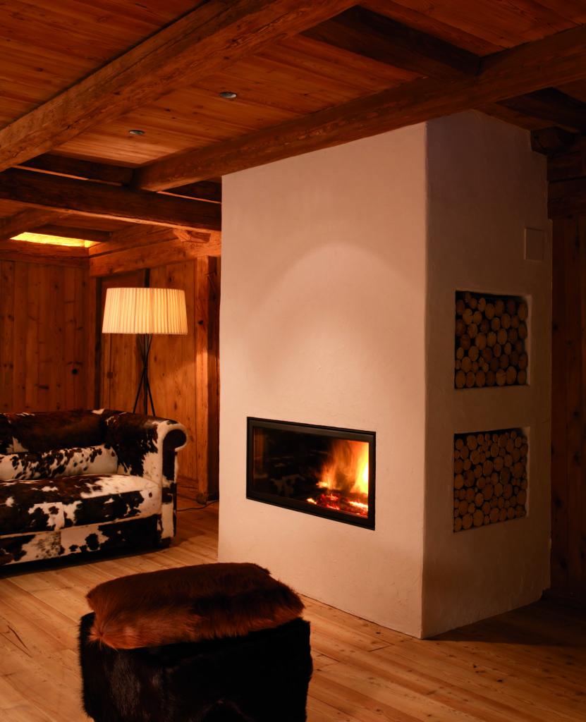 fireplace white deer mountain lodge dolomites