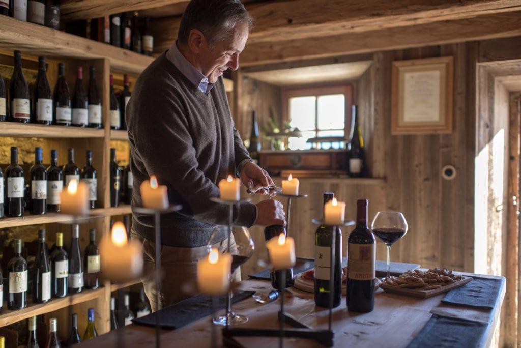 wine cellar white deer mountain lodge dolomites