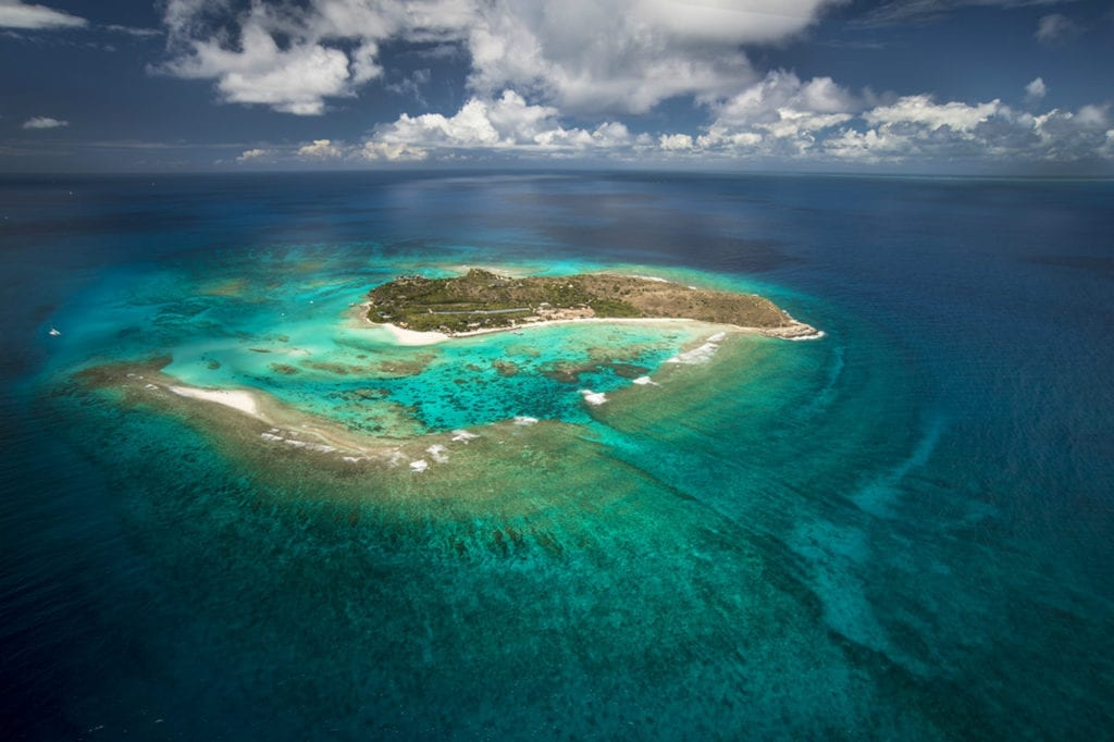 Aerial View of Necker Island British Virgin Islands
