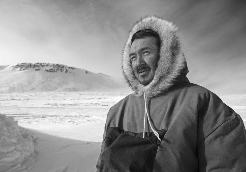 Local guide on Baffin Island