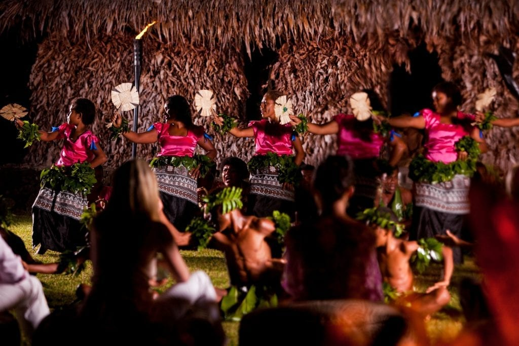 Fijian Cultural Night Fan Dance Performance