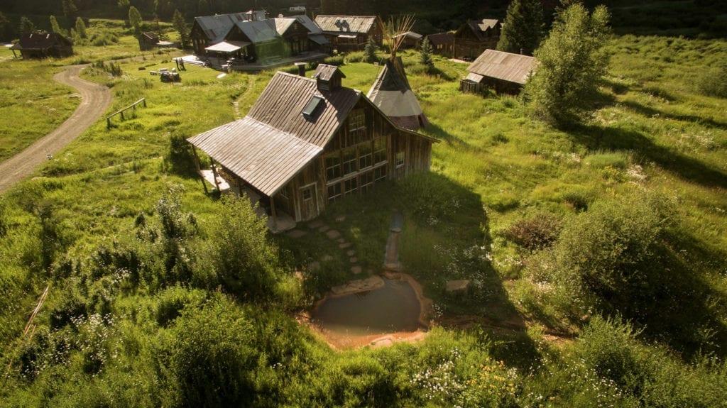 Aerial View of Bathhouse at Dunton Hot Springs Colorado USA