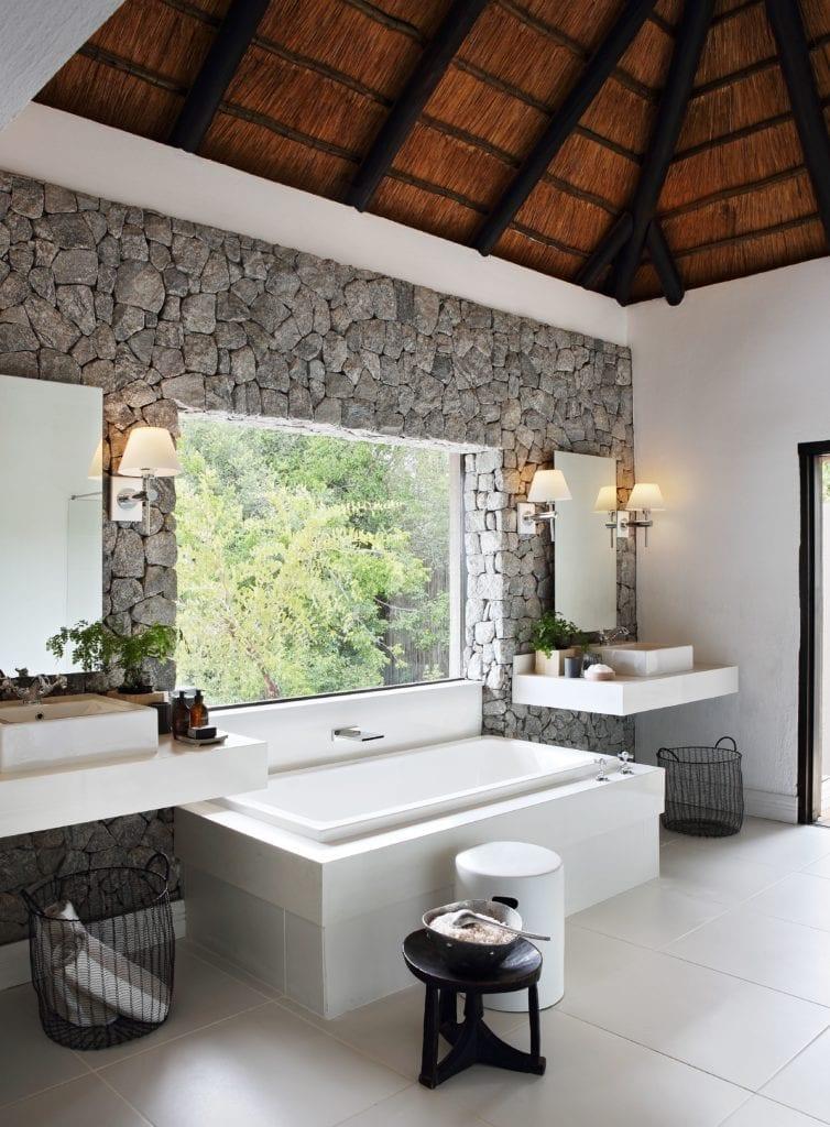 Bathroom Interior at Londolozi Granite Suites South Africa