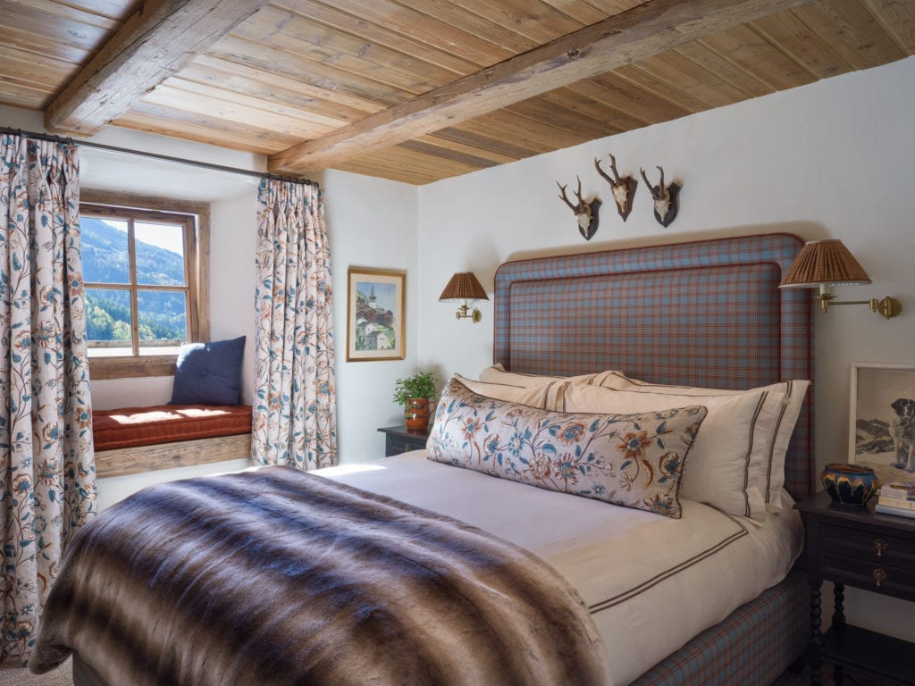 Bedroom Interior at Chalet Hibou The Alps France