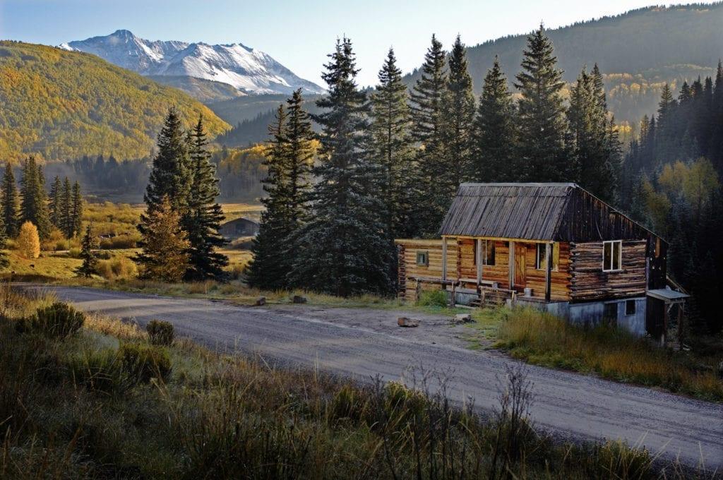 Cabin Spa Gym Exterior Dunton Hot Springs Colorado USA