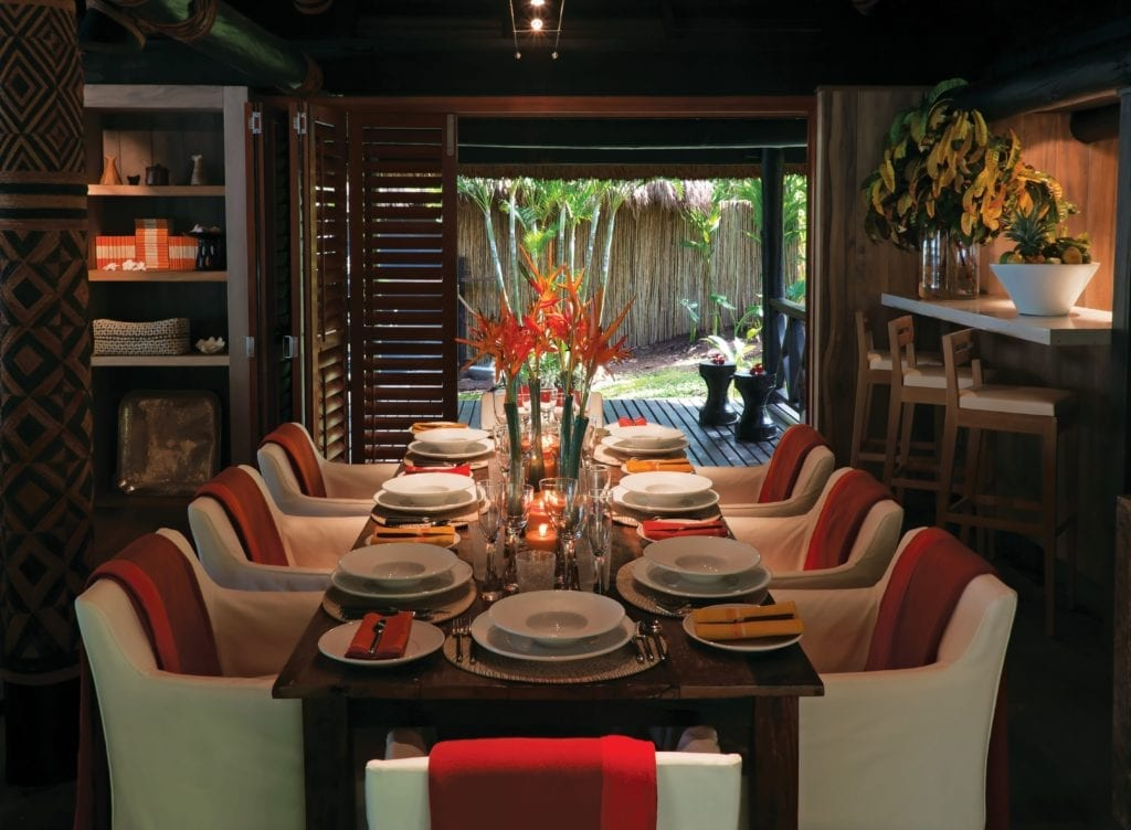 Dining Room Pacific Style at Dolphin Island Fiji