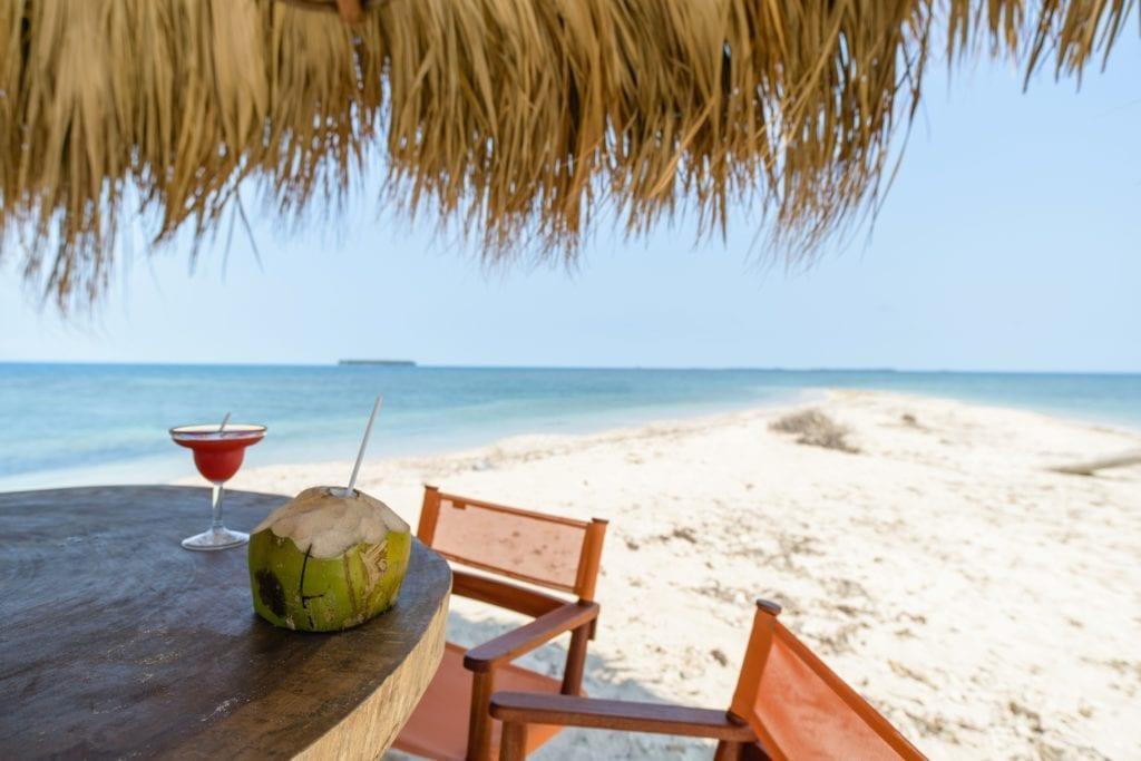 Dining on the beach at Calala Island Nicaragua