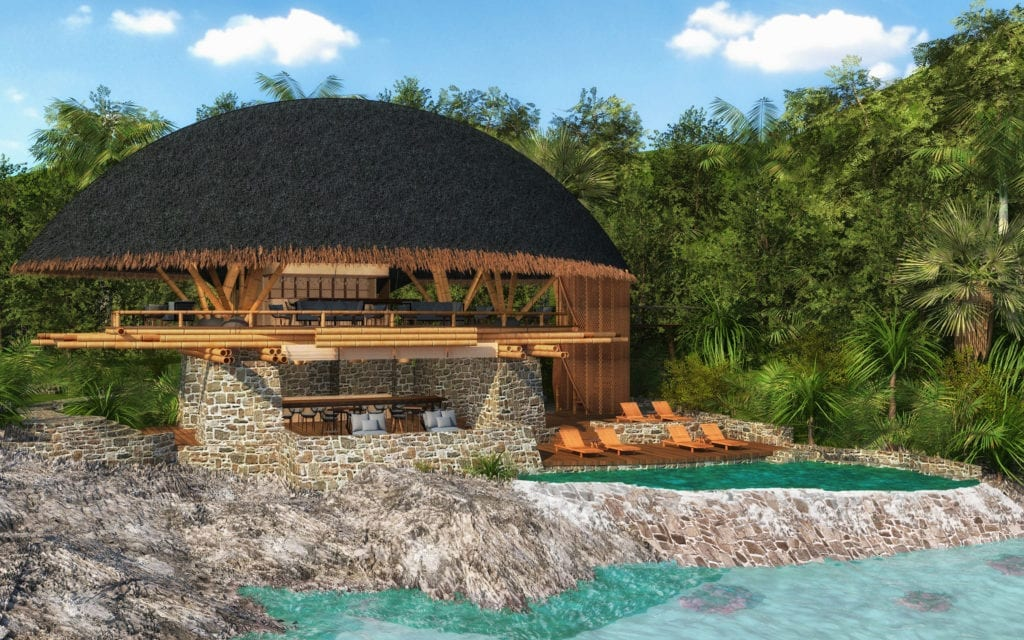 Elang Clubhouse Exterior with Infinity Pool at Bawah Reserve Indonesia