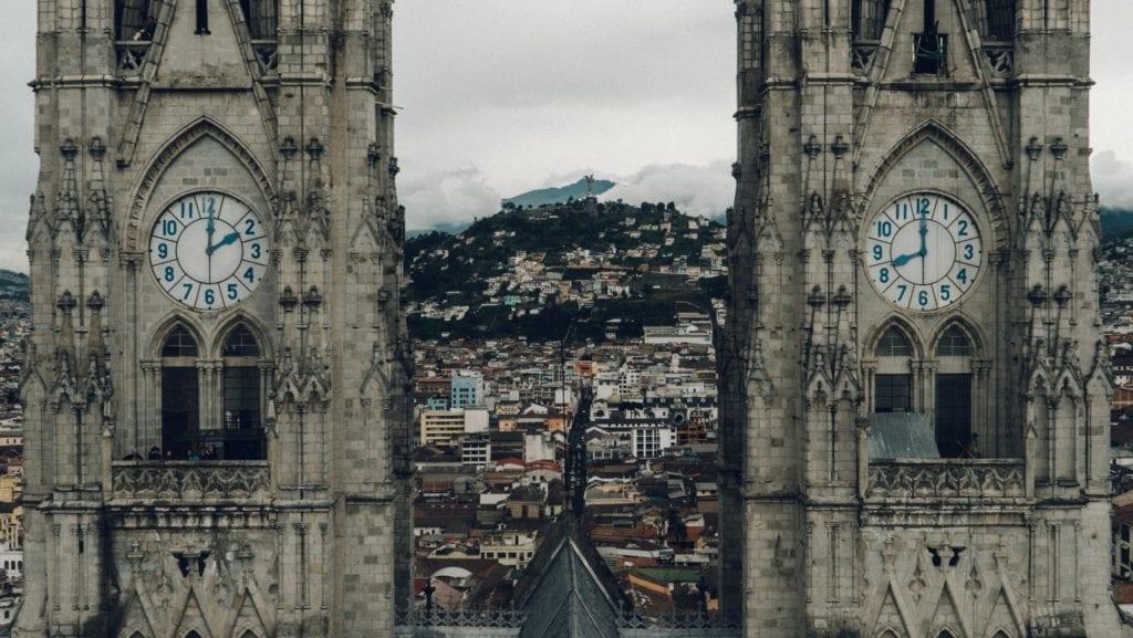 Gothic City Architecutre in Ecuador