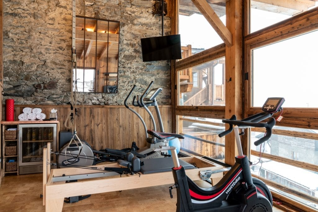 Gym Area At Chalet Hibou The Alps France