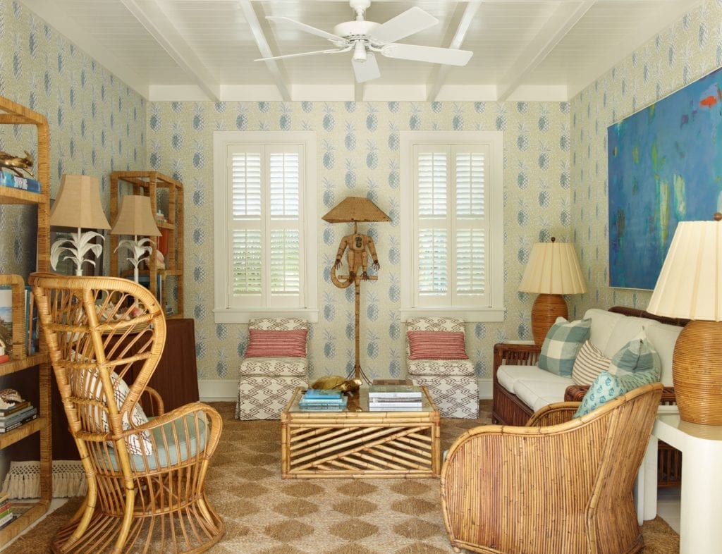 Interior Lounge Seating Area Bahama House Bahamas Caribbean