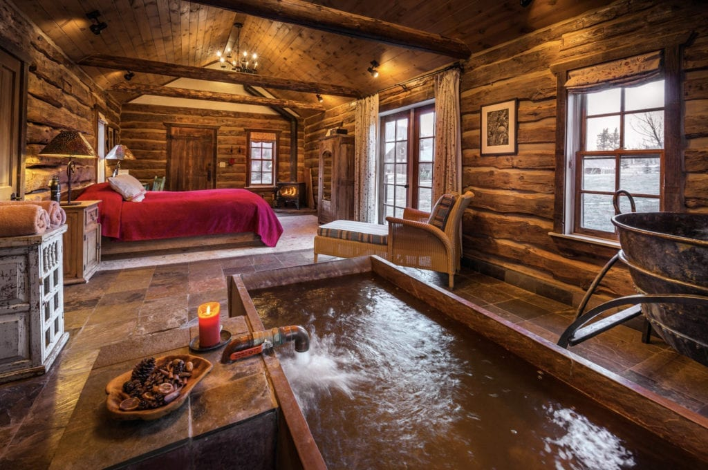 Interior of Well House with Natural Spring at Dunton Hot Springs Colorado USA