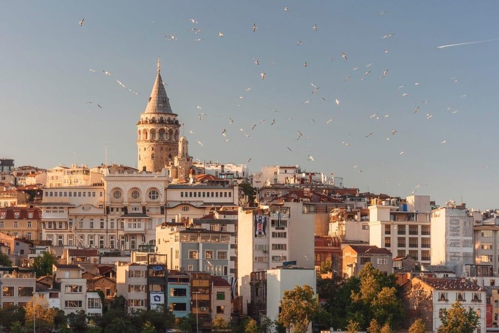 Skyline of Istanbul Turkey