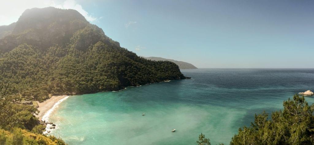 Kabak Plaji Beach Coast in Turkey