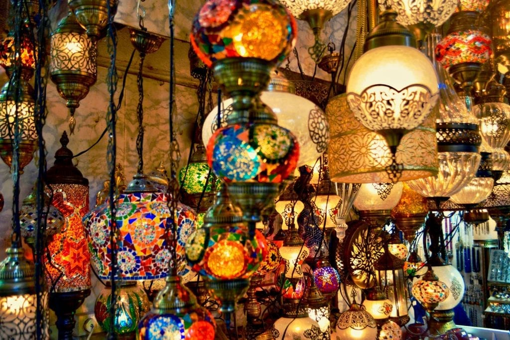 Lamps of Istanbul in Turkey