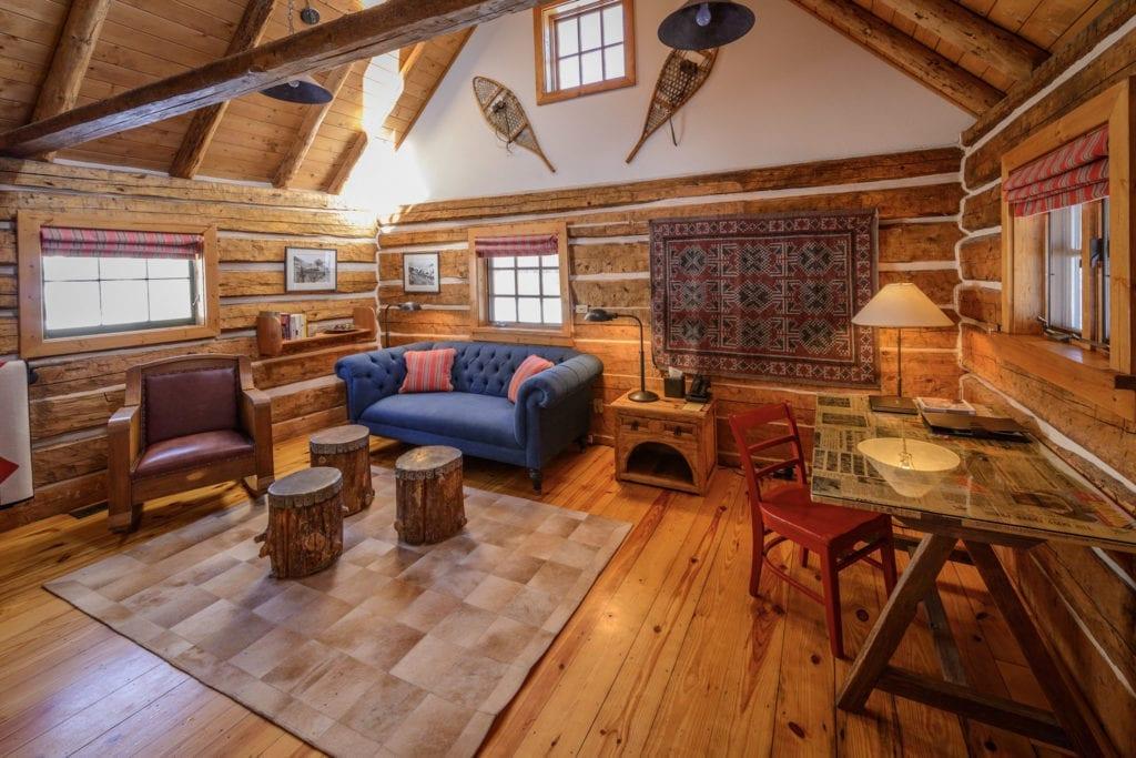 Living Room Interior of Cabin at Dunton Hot Springs Colorado USA