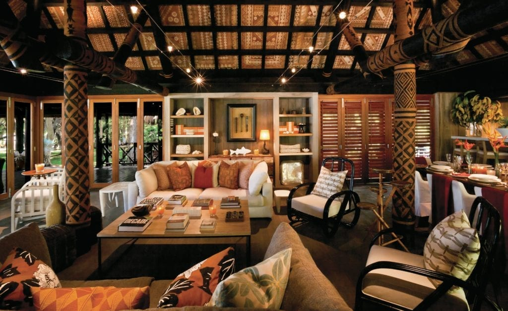 Main Bure Pavilion Seating Lounge Area Dolphin Island Fiji