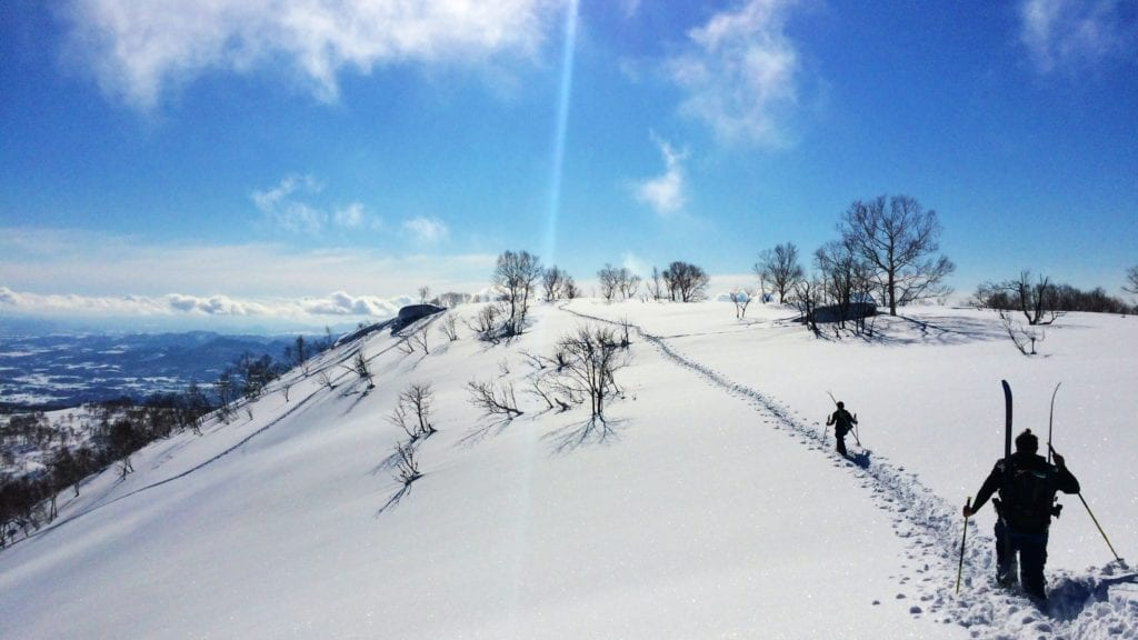 Cross Country Skiing Through Fresh Powder Niseko Japan
