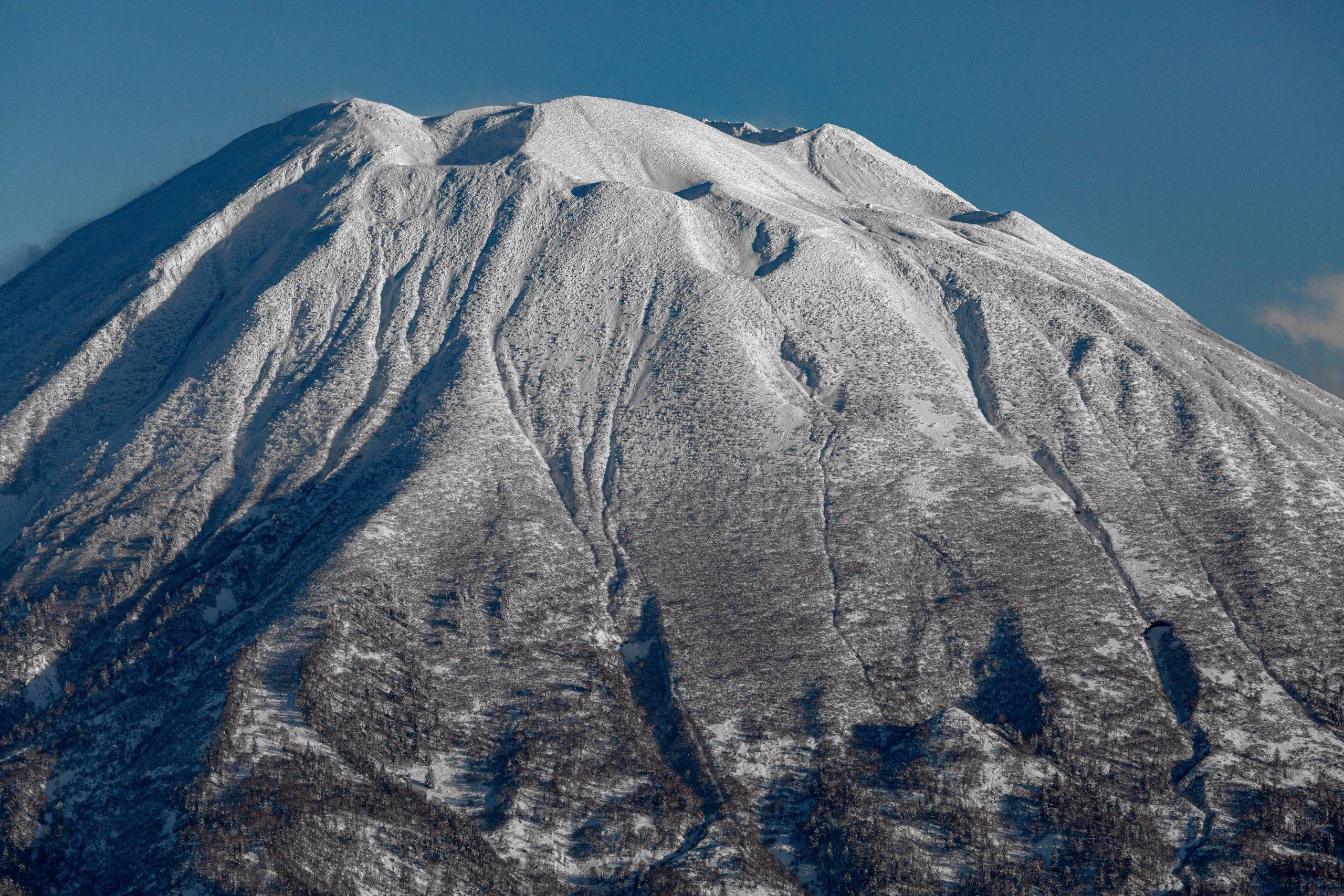 Snow Covered Summit in Niseko Japan