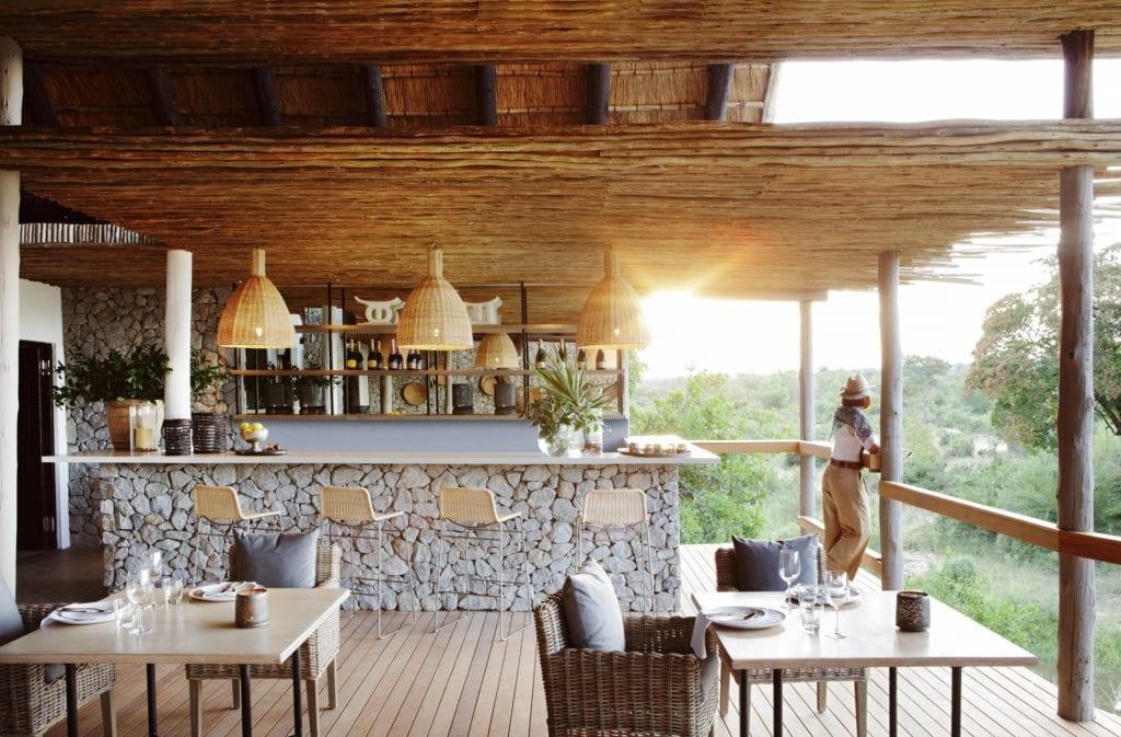 Outdoor Bar Area At Londolozi Granite Suites South Africa