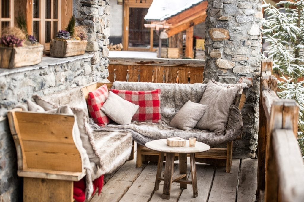 Outdoor Seating Lounge Area at Chalet Pelerin The Alps france