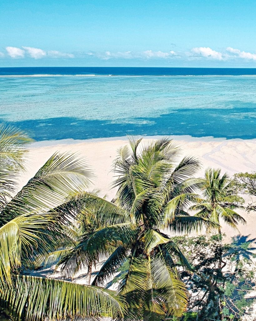 Palm Trees, beaches and ocean in Fiji