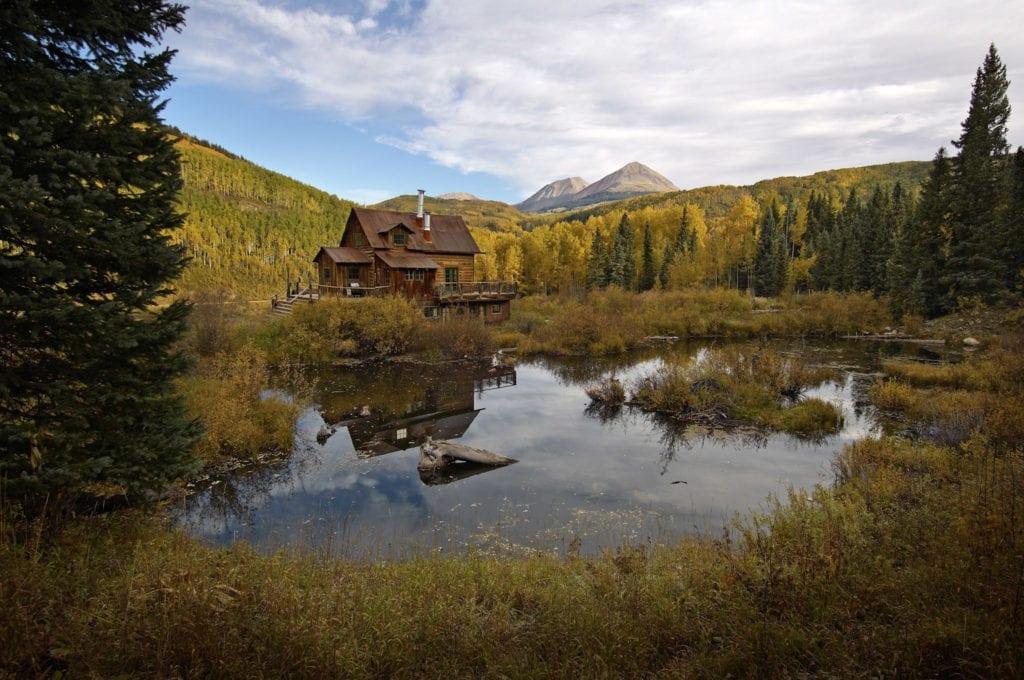 Riverside Potter House Cabin Exterior at Dunton Hot Springs Colorado USA