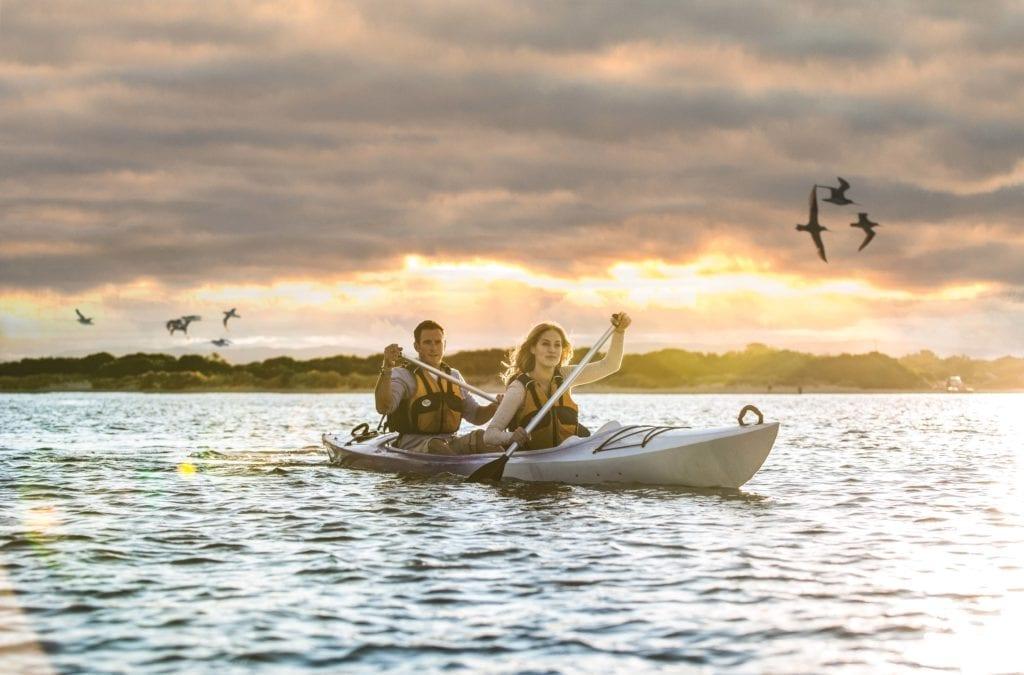 Saffire Freycinet Kayaking Sunset Tasmania Australia