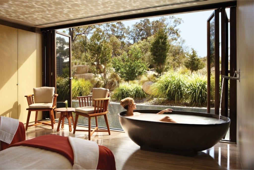 Saffire Freycinet Spa Interior and Nature Tasmania Australia
