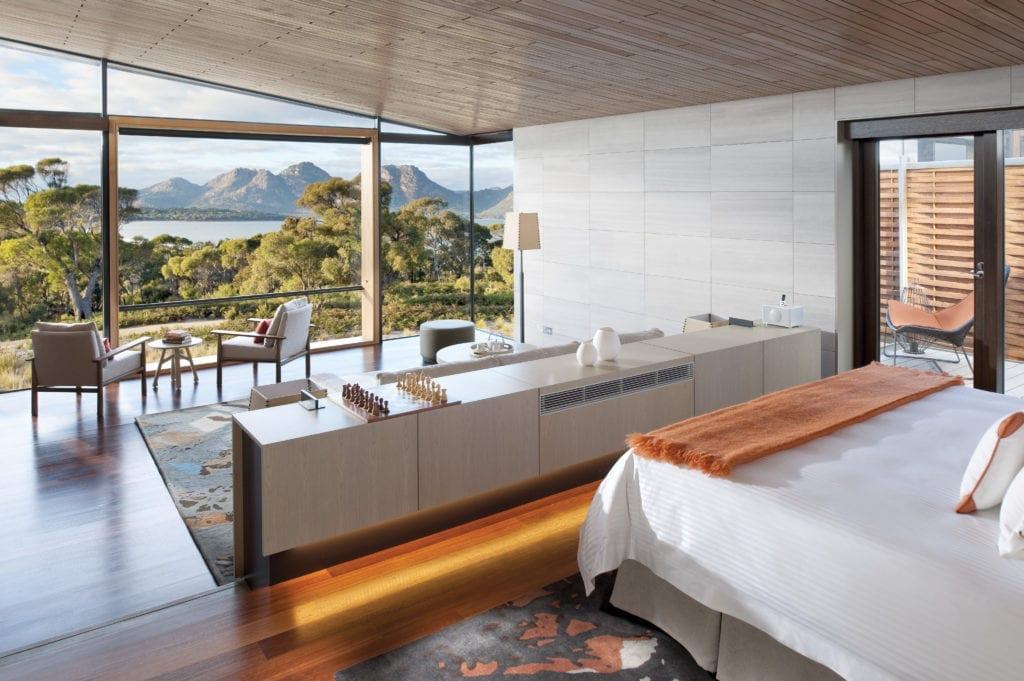 Suite Interior with Views at Saffire Freycinet Tasmania Australia