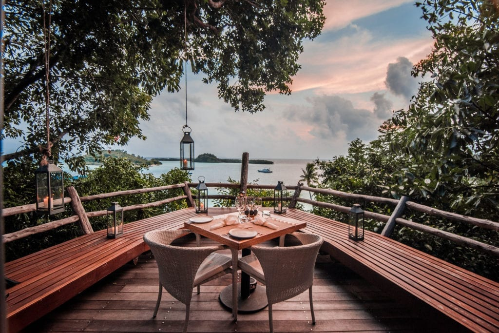 Sunset Dining Deck at Bawah Reserve Indonesia