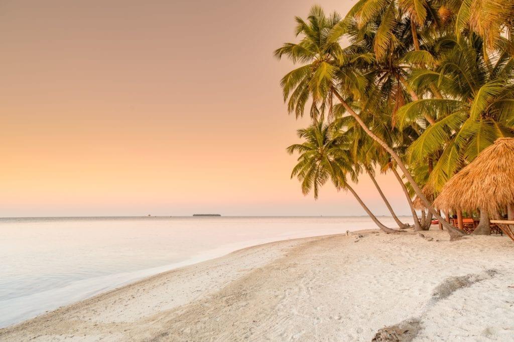 Sunset at the Beach on Calala Island Nicaragua
