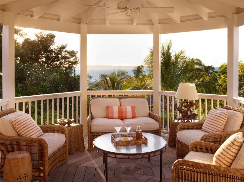 Covered Terrace Area Bahama House Caribbean