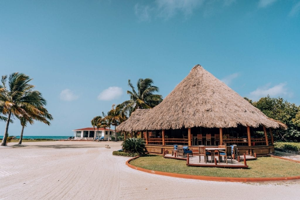 Thatched Beach House at Royal Belize