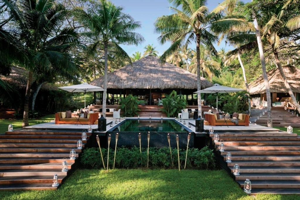 The Main Bure Pavilion at Dolphin Island Fiji