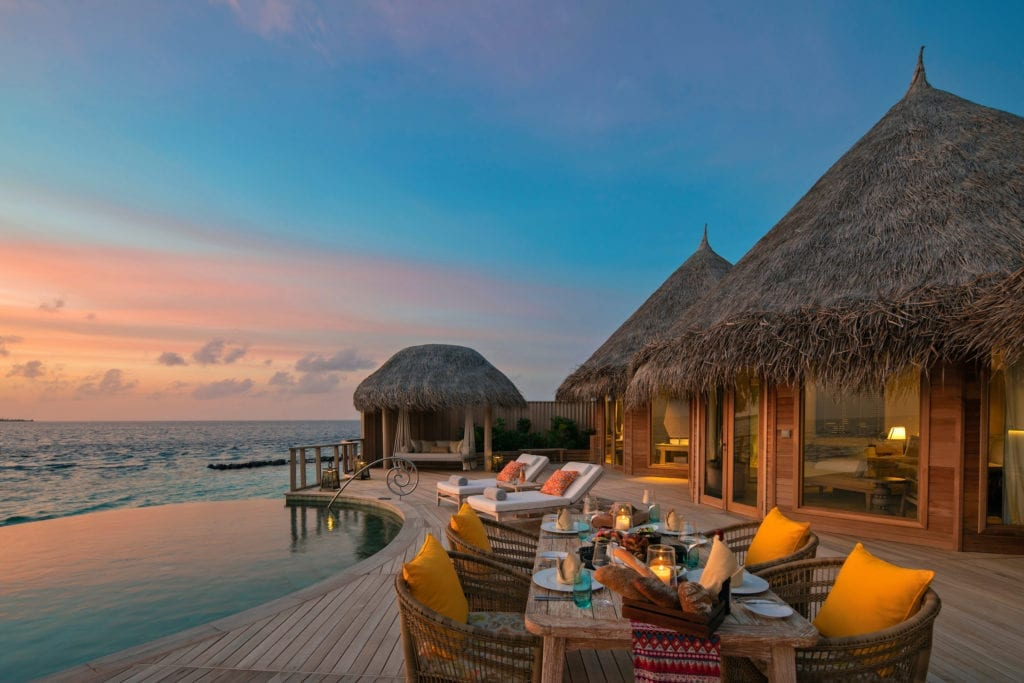 The Nautilus Maldives Sunset Pool Villa Terrace Exterior