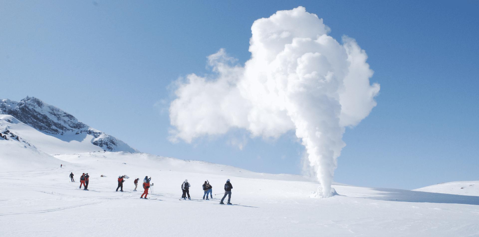 Skiing in Kamchatka