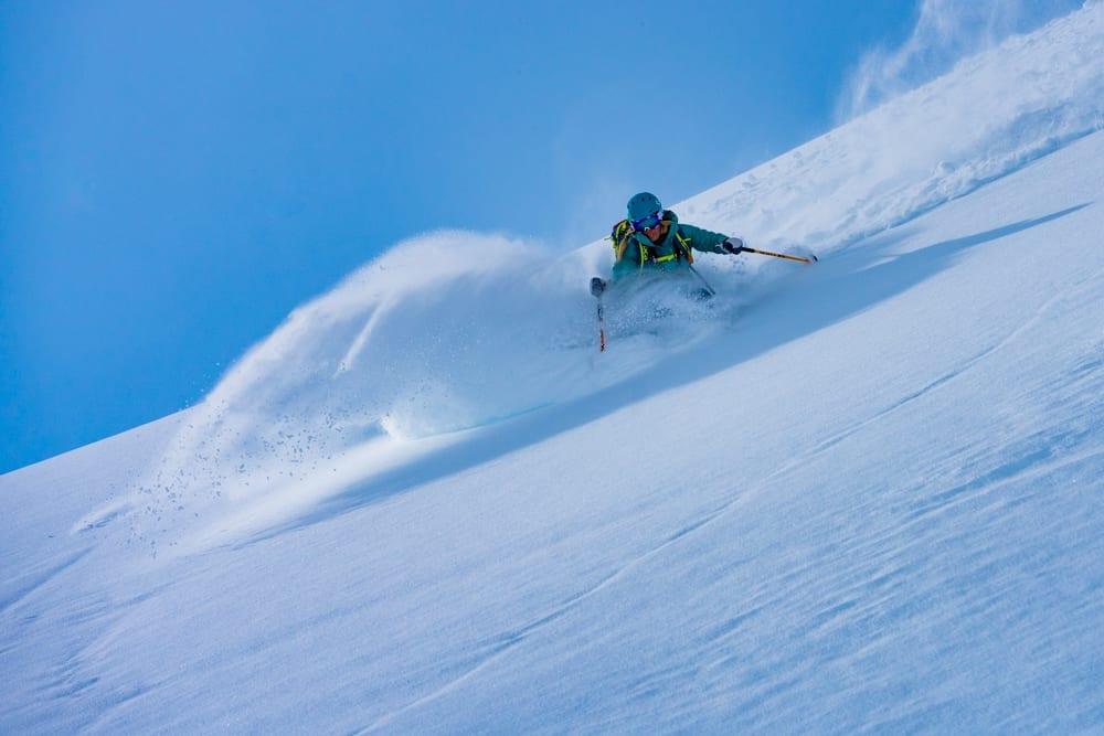 Powder skiing in Alaska
