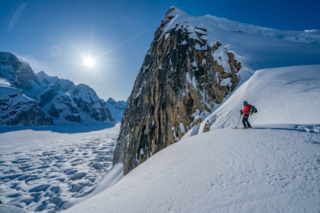 Alaska Ski Touring Glacier