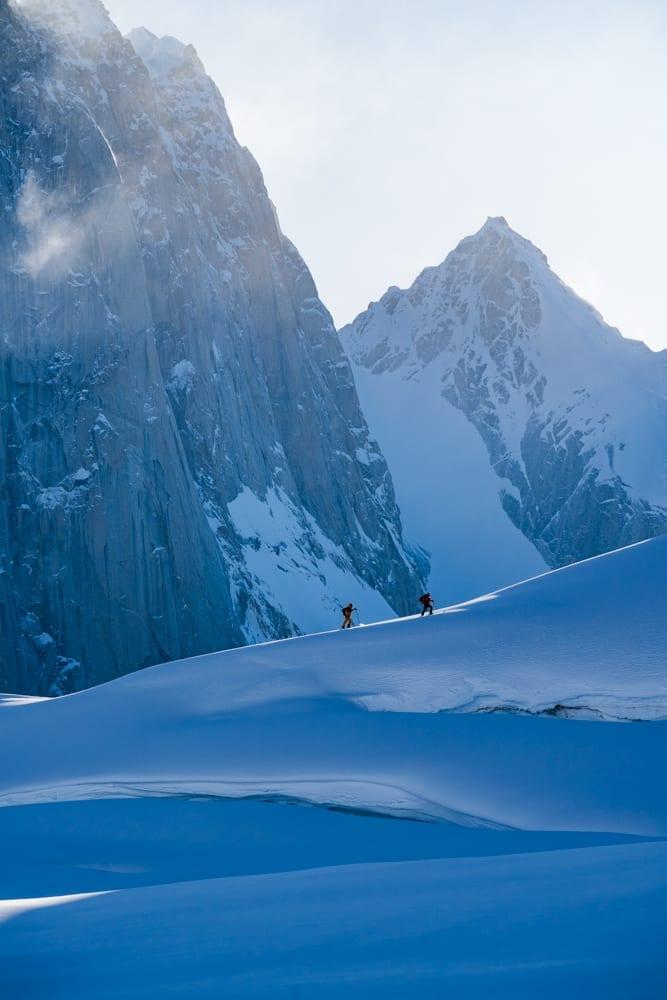 Ski touring in Alaska