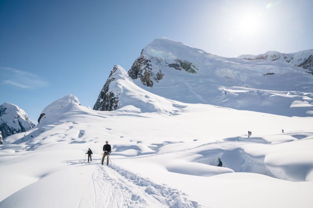 Glacier skiing in Alaska