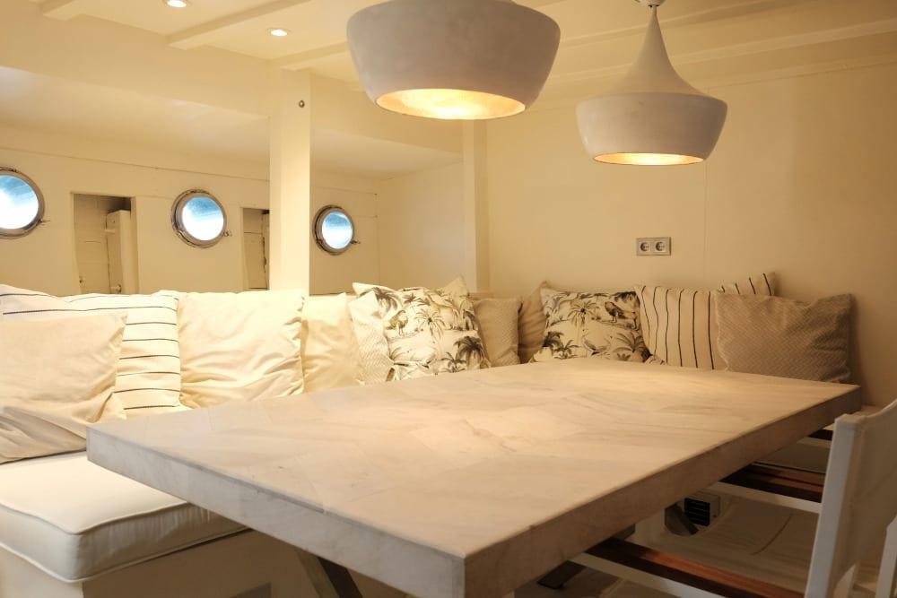 Kitchen seating area on board Alexa J