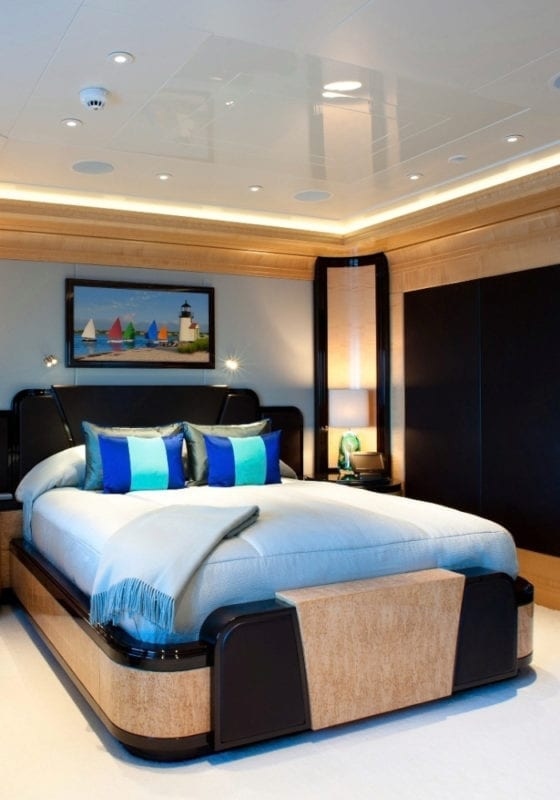 Double bedroom on board the Arience