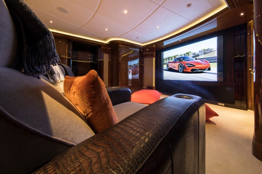 Private cinema on board Arience