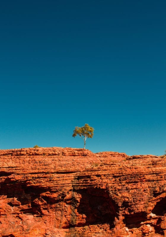 Uluhru Rock and Blue Skies in Australia