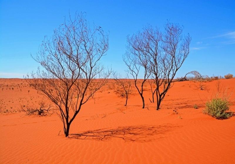 Australia Uluhru Sands Blue Sky Australia